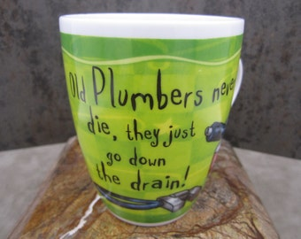 "Fine porcelain History and Heraldry "" Plumber"" coffee mug"