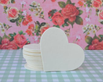 15 Purely Pulp Small Hearts, 2 inches across