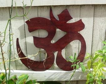 Wooden Om Wall Art
