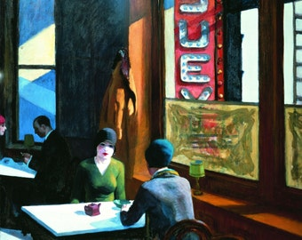 Chop Suey by Edward Hopper Home Decor Wall Decor Giclee Art Print Poster A4 A3 A2 Large Print FLAT RATE SHIPPING