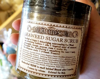 Mermaid Soup - Seaweed Sugar Scrub - Love Potion Magickal Perfumerie