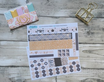 Personal Sized January Monthly Cover Ups for Planners, Penpal and Journalling HBSM007