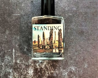 Standing Stones Cologne Oil 1/2 oz. Woodsy Cologne, Celtic Cologne, Sassenach Perfume, Sassenach Cologne, Fantasy Cologne, Fantasy Perfume