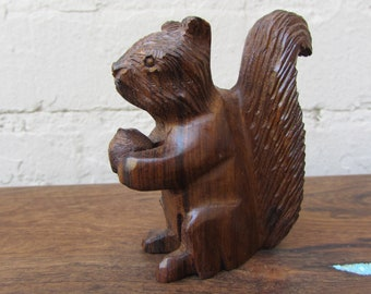 Desert Ironwood Squirrel  Handcarved Wood  Carving