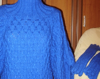 Ladies sweater, Hand-knit sweater, Sweater and additional sleeves, Winter Sweater, A gift for her