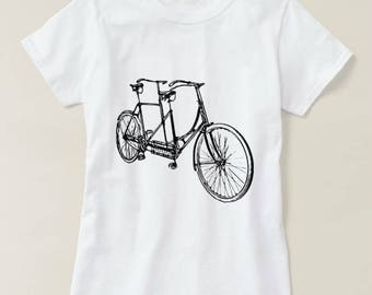 French Version - Funny Illustrated Tandem T-Shirt