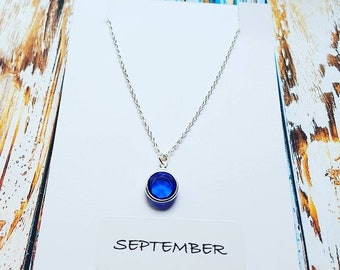 September Birthstone Necklace, Custom Birthstone Necklace, Birthstone Necklace, Gift for Her, Bridesmaids Jewelry, Mother's Day Gift