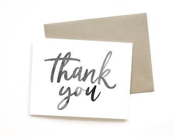 Thank You   Card    Greeting Card   Gratitude Card   Thank You Card   Sweet Card   Simple Card   Hand Lettered Card   Just Because Card