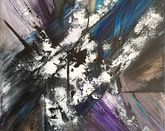 Abstract painting / Modern art / Wall canvas / Ready to hang / 16x16 / SALE