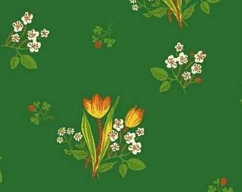 ON SALE Heather Ross Kinder Spring Blooms Green