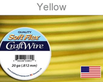 20 Gauge Yellow Silver Plated Wire, Soft Flex, Tarnish Resistant,  Round, Supplies, Findings, Craft Wire