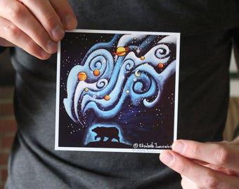 Bear Breathing Universe; Fine Art Print