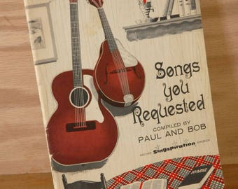 Songs You Requested , Vintage Music Book, Guitar Book
