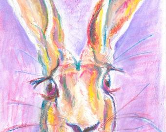 Oil Pastel Hare
