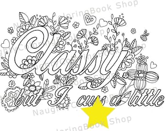 Badss Swear Words Printable Coloring Pages Swear Word