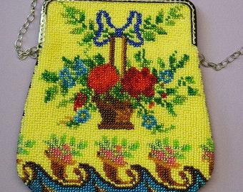 Handbag beads Summer Gift purse cute girlfriend souvenir vintage fashion shoulder