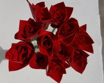 One Dozen Duct Tape Rose's