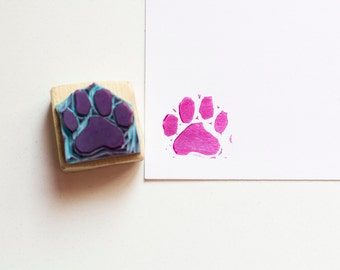Paw stamp dog or cat, handmade, gouge, ready to ship