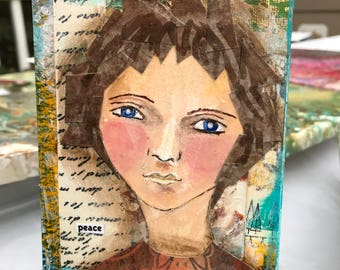 Peace - Mixed media portrait