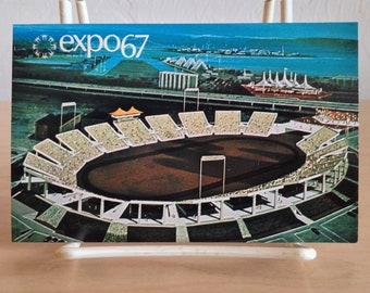 Expo '67 Postcard Automotive Stadium