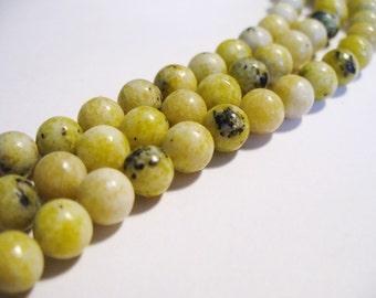 Yellow Turquoise Beads Gemstone Round 6MM
