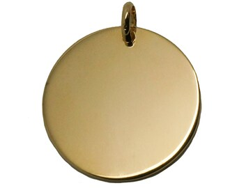 Large medal 27 mm plated gold