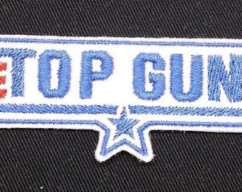 Top Gun Embroidered Patch Badge Iron on or sew