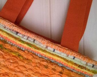 GIPSY_BORSA tessuta a telaio arancione