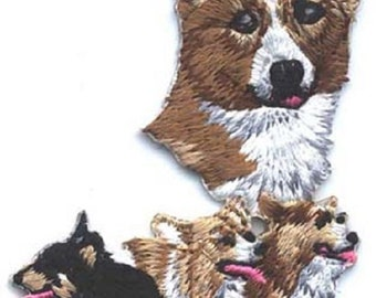 Embroidered WELSH CORGI Dog Breed Iron-on/Sew on Patch Badge Applique DIY