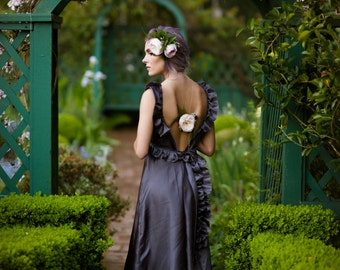 Garden Dress Nikita-Featured in Oregon Bride AND Mingle Magazine-Whimsical-Boho-Beach-Bridesmaids-Alternative wedding Gown-CRBoggs Original