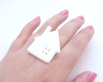Little white house ring