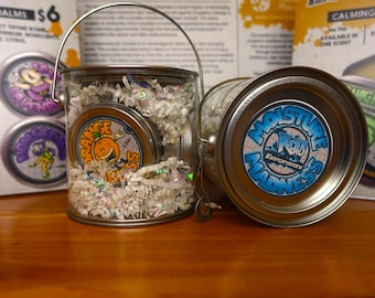 Natural Moisturizing Lip Balm and Shea Balm Pails -'Moisture Madness Pail' - Teen Made in Chicago