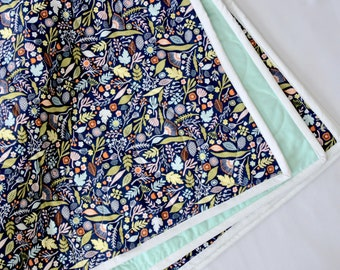 Whole cloth, crib-sized quilt