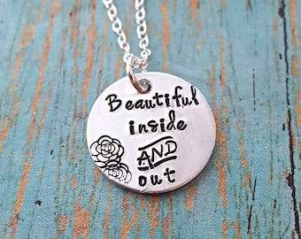 Beautiful Necklace  - Inspirational Jewelry - Motivational Necklace - Self Love - Addiction Recovery -Mental Health -Encouragement - Beauty