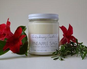 Pineapple Sage Soy Candle, Organic, Natural, Wholesale, Bulk