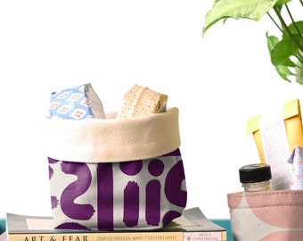 Fabric Buckets - Doodle Plum (more sizes)