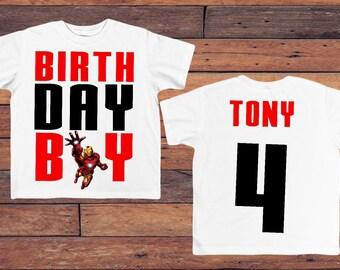 Iron Man birthday shirt, avenger birthday shirt