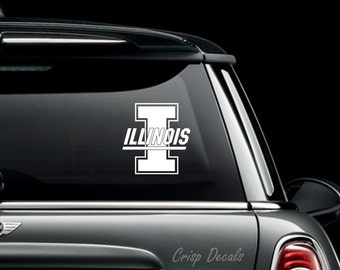 University of Illinois at Urbana–Champaign Decal Bumper Sticker, Laptop Sticker Decal