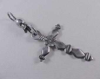 Vintage Silver Granada Mexican Cross Pendant