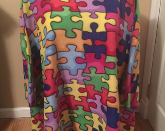 Fleece Autism Poncho one size fits most