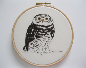Little Spotted Owl Embroidery