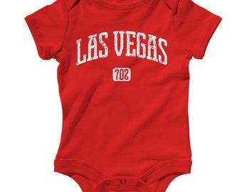 Baby Las Vegas 702 Romper - Infant One Piece - NB 6m 12m 18m 24m - Las Vegas Baby, Nevada Baby - 4 Colors