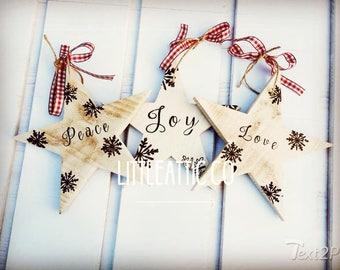 Christmas Decorations, Christmas Wooden Stars, Wooden Stars, Christmas Tree Decor, Star Decorations, Large Stars