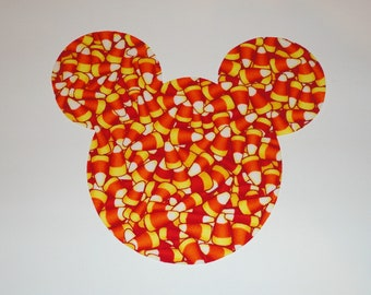 Iron On Applique Halloween CANDY Corn MICKEY Mouse