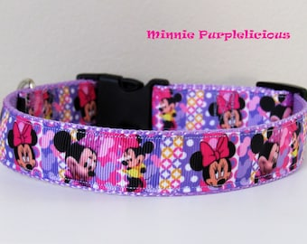 Minnie Mouse Purplelicious Dog Collar