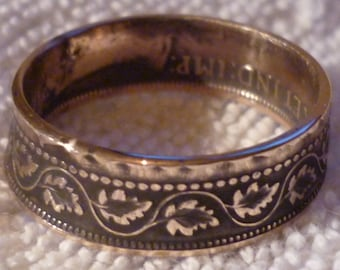 Coin ring Canadian One cent