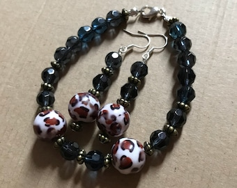 Bracelet with Matching Drop Earrings