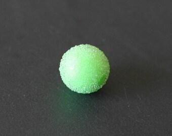 Pearl effect sugar green color 15 mm