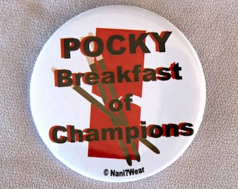 Anime 2-Inch Button - Pocky Breakfast of Champions