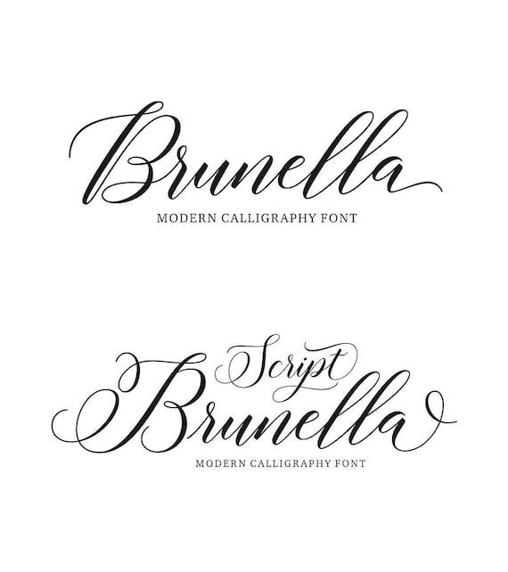 brunella skript moderne kalligraphie schrift. Black Bedroom Furniture Sets. Home Design Ideas